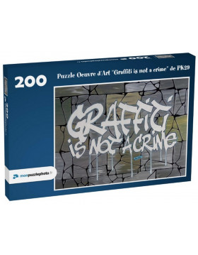 """Puzzle """"Graffiti is not a..."""