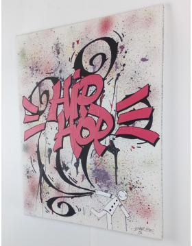 TABLEAU ARTISTE PEINTRE KIPOULOU HIP-HOP GRAFFITI PK29
