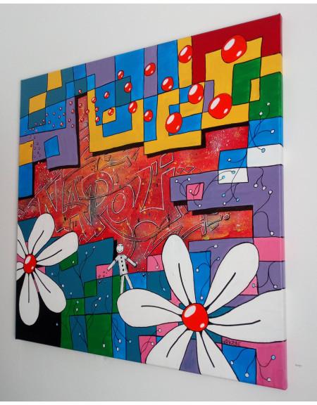 TABLEAU NAPOLI ITALIA GRAFFITI PK29