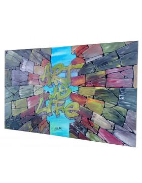 "TABLEAU Graff ""ART IS LIFE""..."