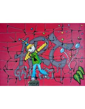 """TABLEAU Kipoulou """"ART GRAFFITI"""" PK29"""