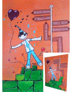 """TABLEAU Kipoulou """"Au Carrefour du Bonheur"""" PK29"""