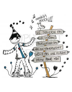 "Affiche Kipoulou - ""Ne traverse pas un océan..."" - PK29"
