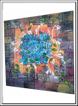 TABLEAU STREET ART GRAFFITI